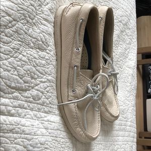 Sperry Shoes - Sperry Men's size 9W. White leather.